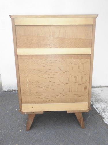 Commode haute chiffonnier rétro vintage 5 tiroirs 4 pieds compas vintage 1960