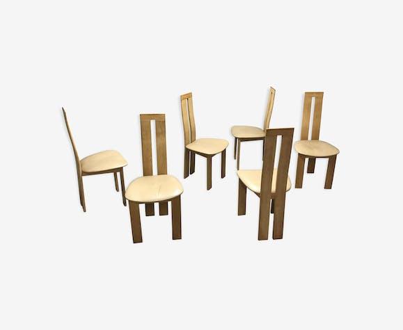 Chaises de salle à manger par Pietro Costanza pour Ello, des années 1970, lot de 6