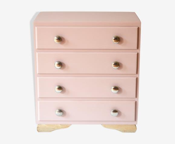 Commode Rosy Bois Materiau Rose Art Deco K9byw9d