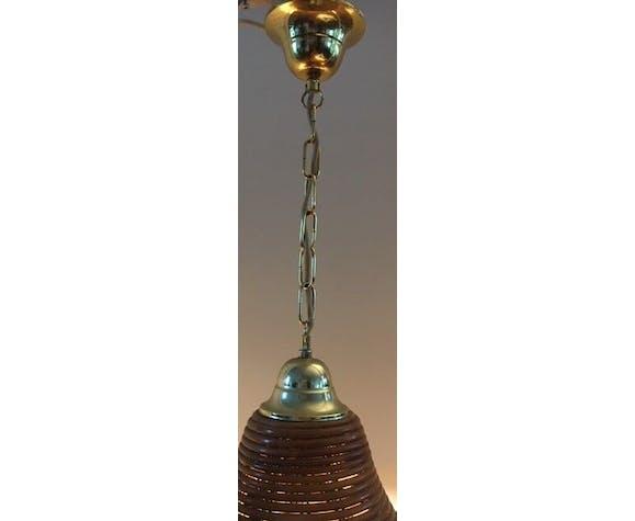 Suspension en bambou 58 cm vintage