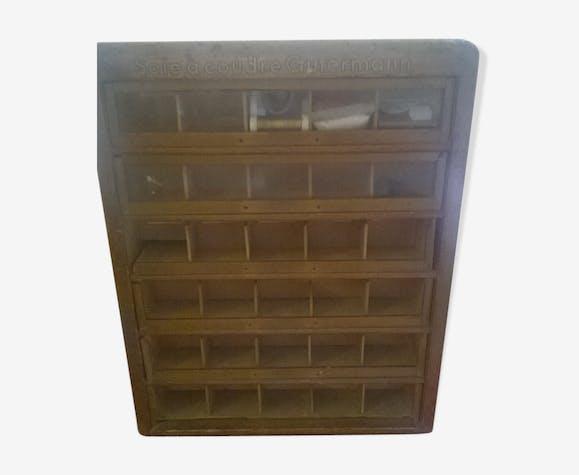 Meuble à tiroirs ancien de mercerie Gutermann - bois (Matériau ...