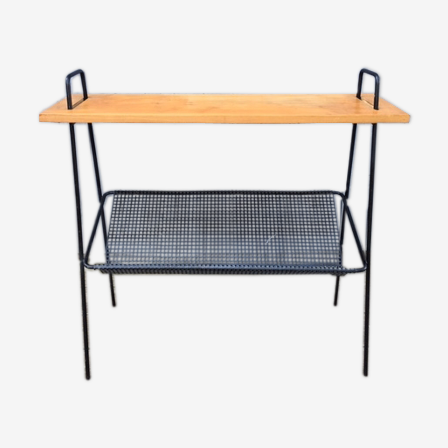 Modernista console metal and wood 1950