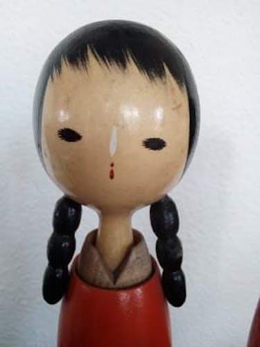 Deux poupées kokeshi 60'