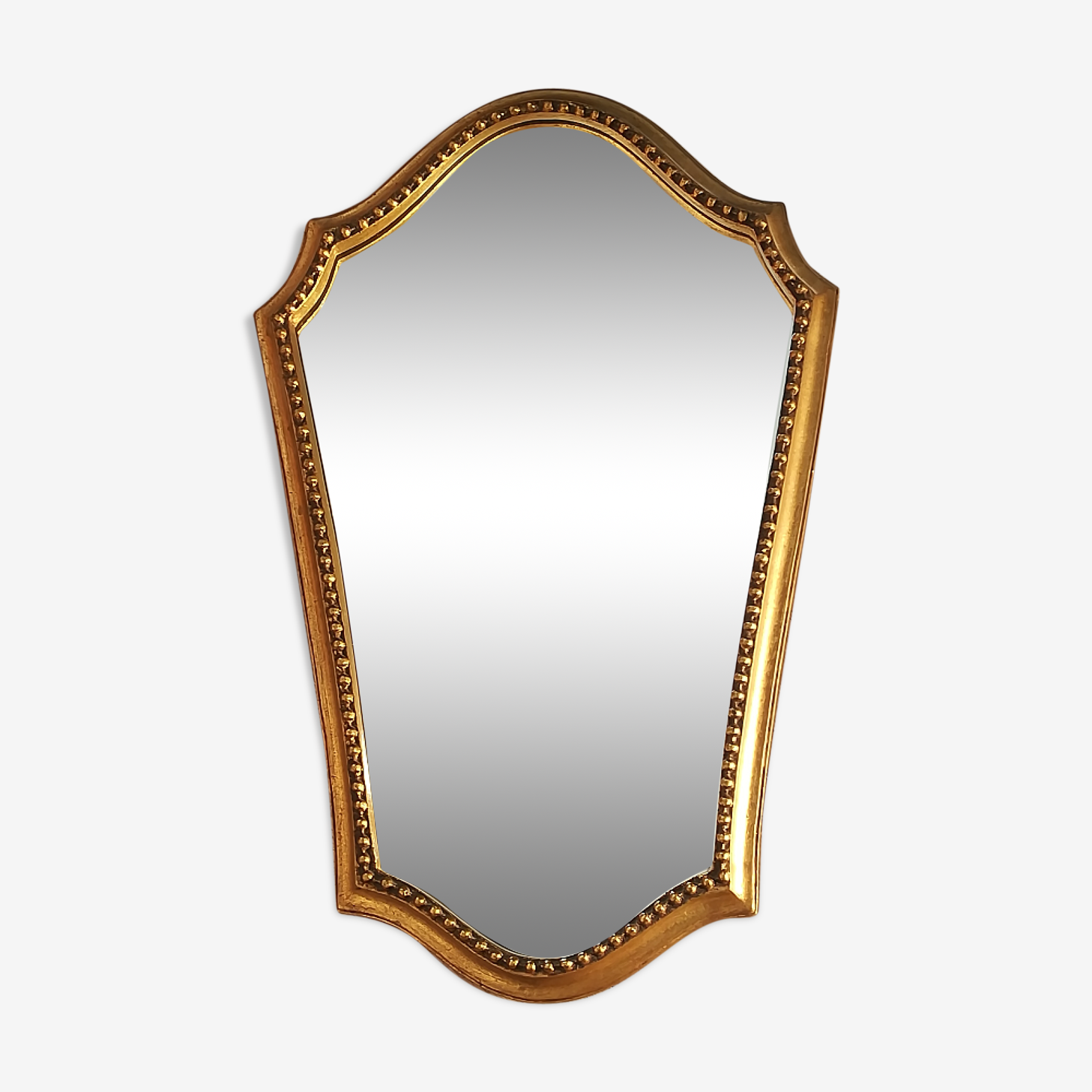 Miroir bois doré 50x33cm