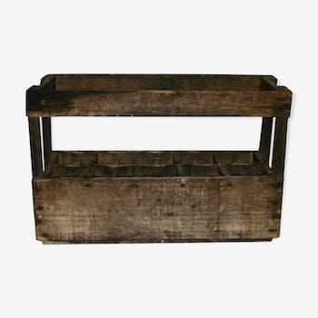 porte bouteilles champagne en bois ancien bois mat riau bois couleur vintage cywecp1. Black Bedroom Furniture Sets. Home Design Ideas