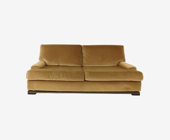 canap des ann es 70 design de pierre vandel velours marron vintage sofl7kr. Black Bedroom Furniture Sets. Home Design Ideas