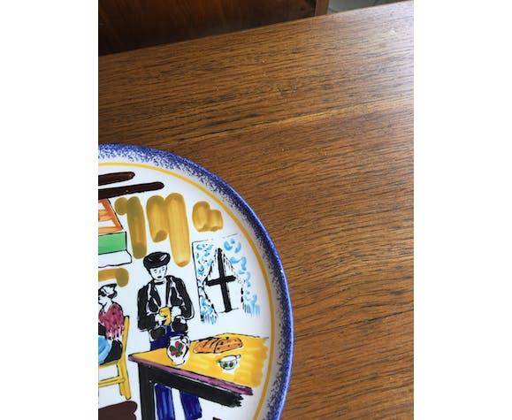 Decorative plate by Hercé