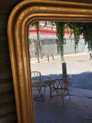 Miroir doré Louis Philippe