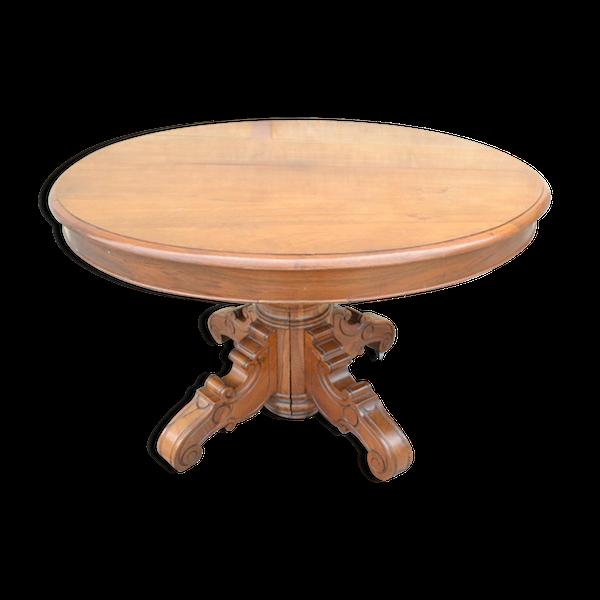 Table à pied central
