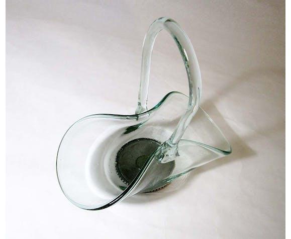 Panier en verre et étain