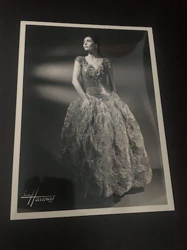 Paco Rabanne: illustration de mode  et photographie vintage du studio Harcourt 1988