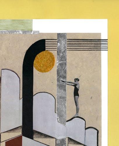 "Collage ""Vertige solaire"""