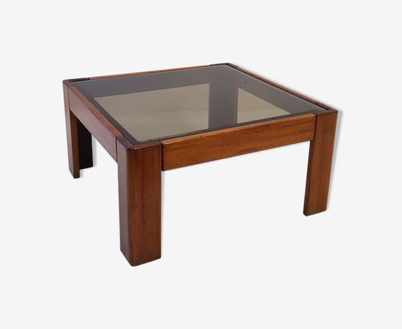 Coffee Table In Teak And Gl Edition Knoll 1969