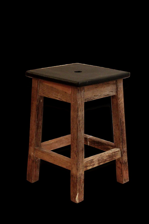 tabouret noir et bois tabouret design bois assise et dossier garnies de tissu surpiquac design. Black Bedroom Furniture Sets. Home Design Ideas