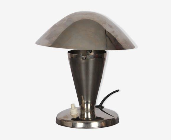 Lampe à poser en métal tchèque 1940