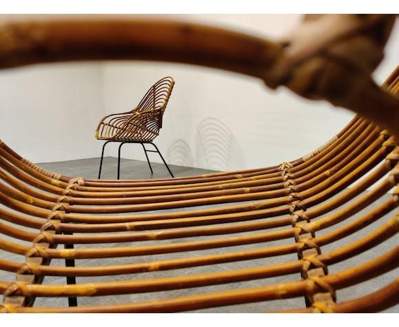 Paire de fauteuils en rotin, Belgique des années 1960