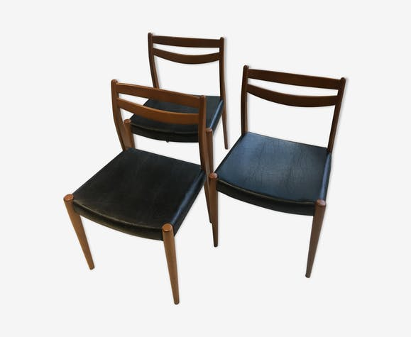 Lot 3 chaises style scandinave