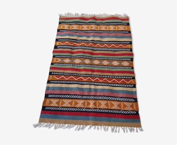 Tapis kilim berbère multicolore 146x100cm