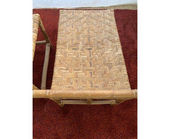 Chaise longue en rotin