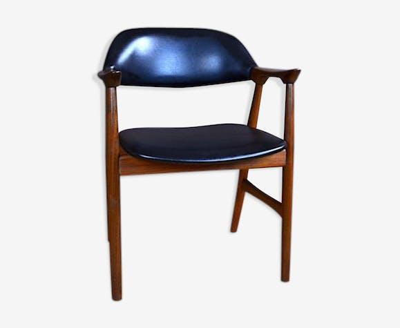 Chaise De Bureau Design Scandinave En Teck Vcintage 1960