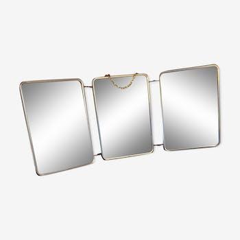 Mirror triptych barber year 50 21x50cm