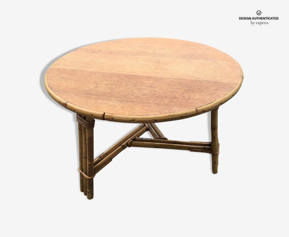 Round Rattan Coffee Table Audoux Minnet
