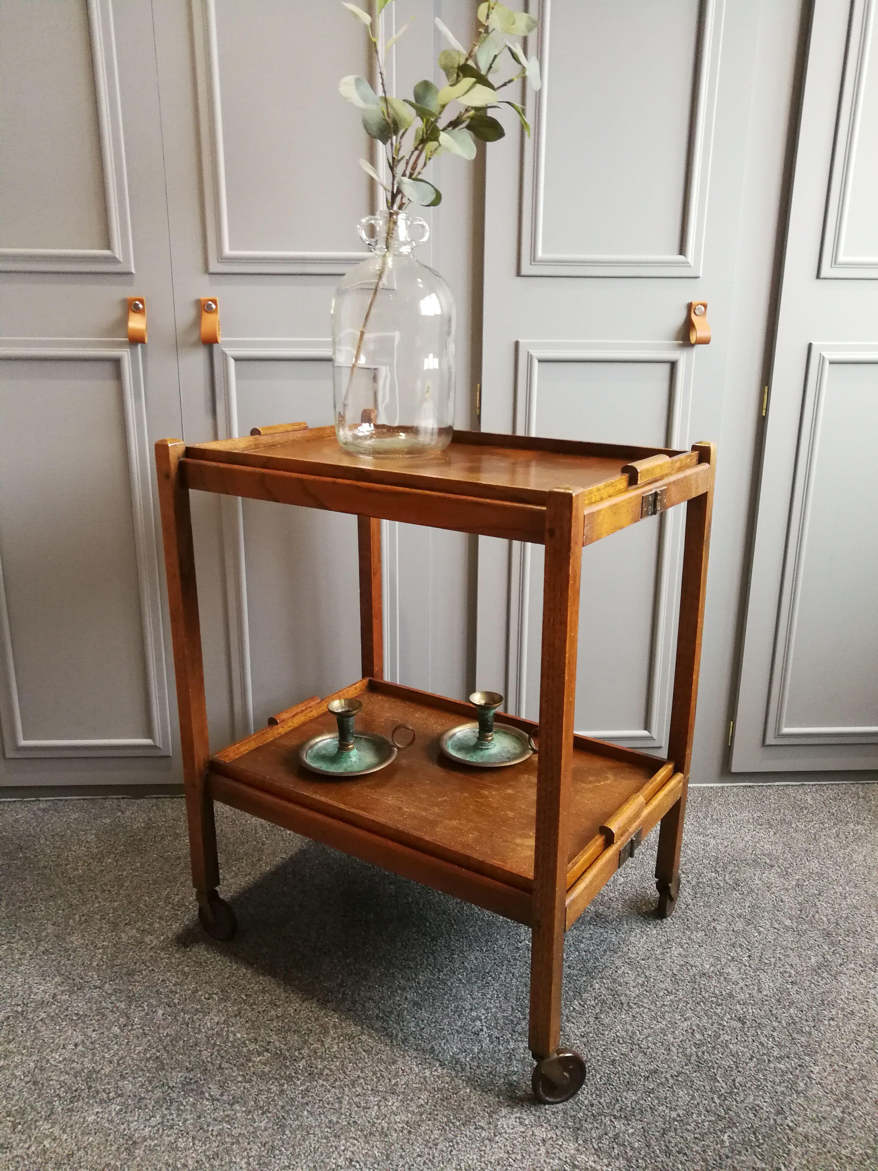 Butler tray plateau table pliante Table pliante bois Desserte d/'Appoint Bois