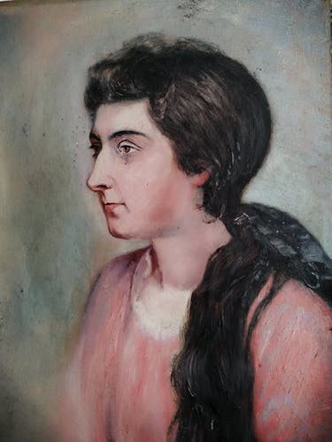 Huile sur toile portrait 1900