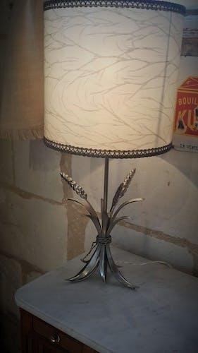 Lamp ear of wheat metal 70s