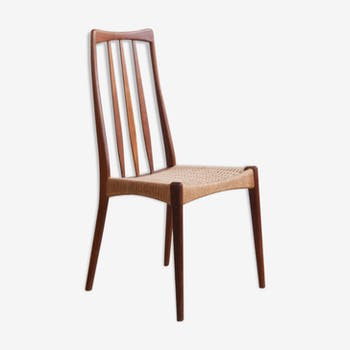 Scandinavian teak chair and rope
