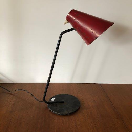 Lampe cocotte vintage rouge