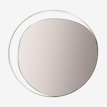 Mirror ellipse copper 80 cm Red Edition
