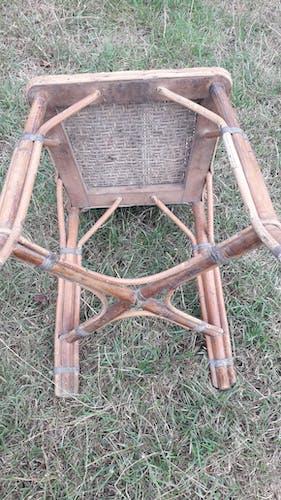 Lot 2 chaises rotin cannées 1900