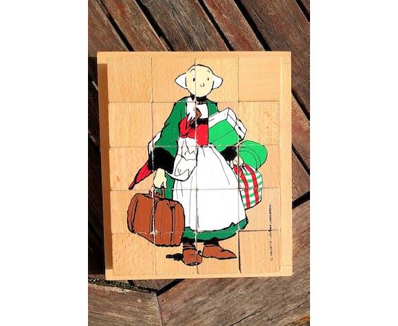 Puzzle vintage bois