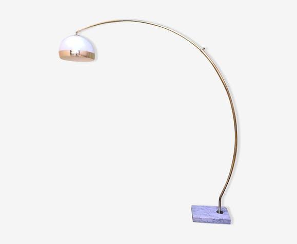 Lampadaire arc t lescopique vintage ann es 70 m tal - Lampadaire arc blanc ...