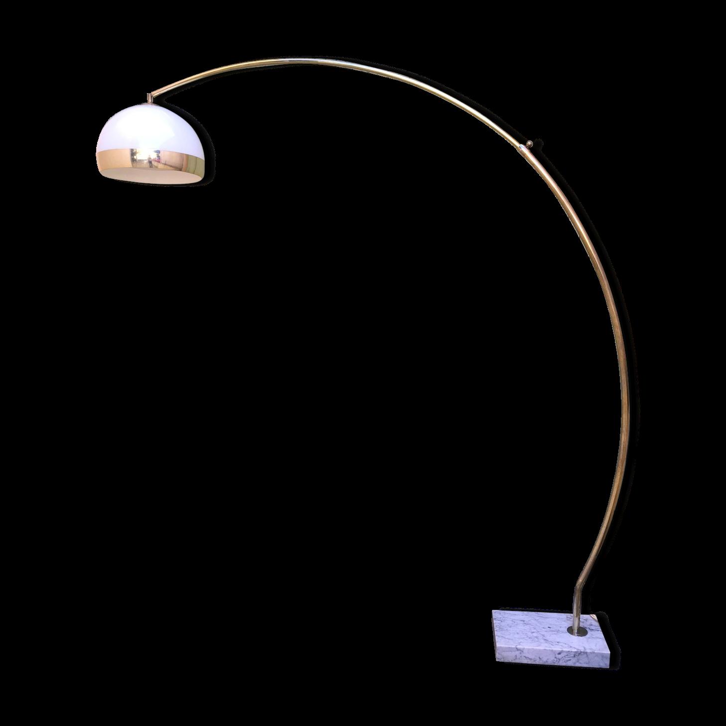 Lampadaire Globe Lampadaire Arc Basic Acier Avec Abatjour Tissu