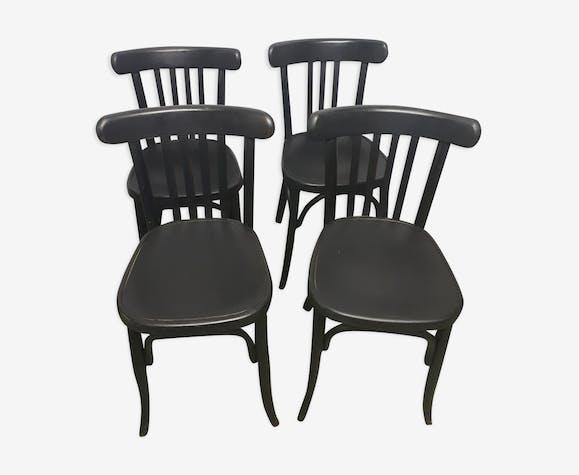 Suite de 4 chaises bistro