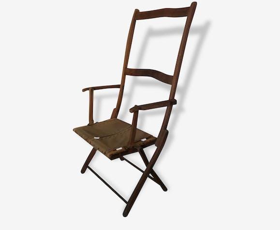 Ancienne chaise pliante de jardin en bois - bois (Matériau ...