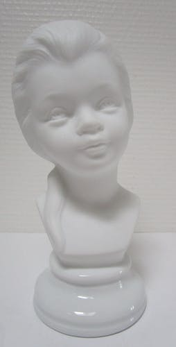 Buste de jeune fille biscuit porcelaine