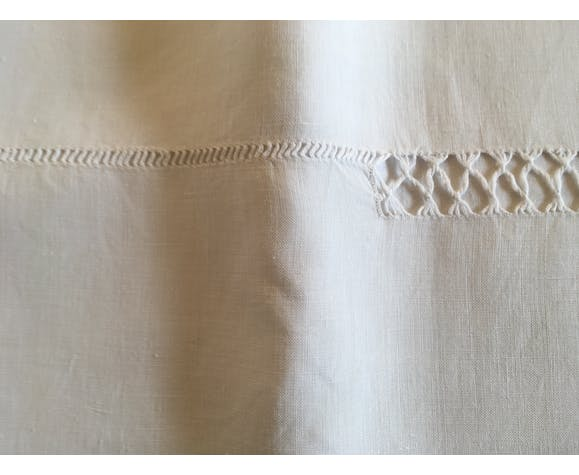 19th embroidered linen sheet 240cm x 270cm