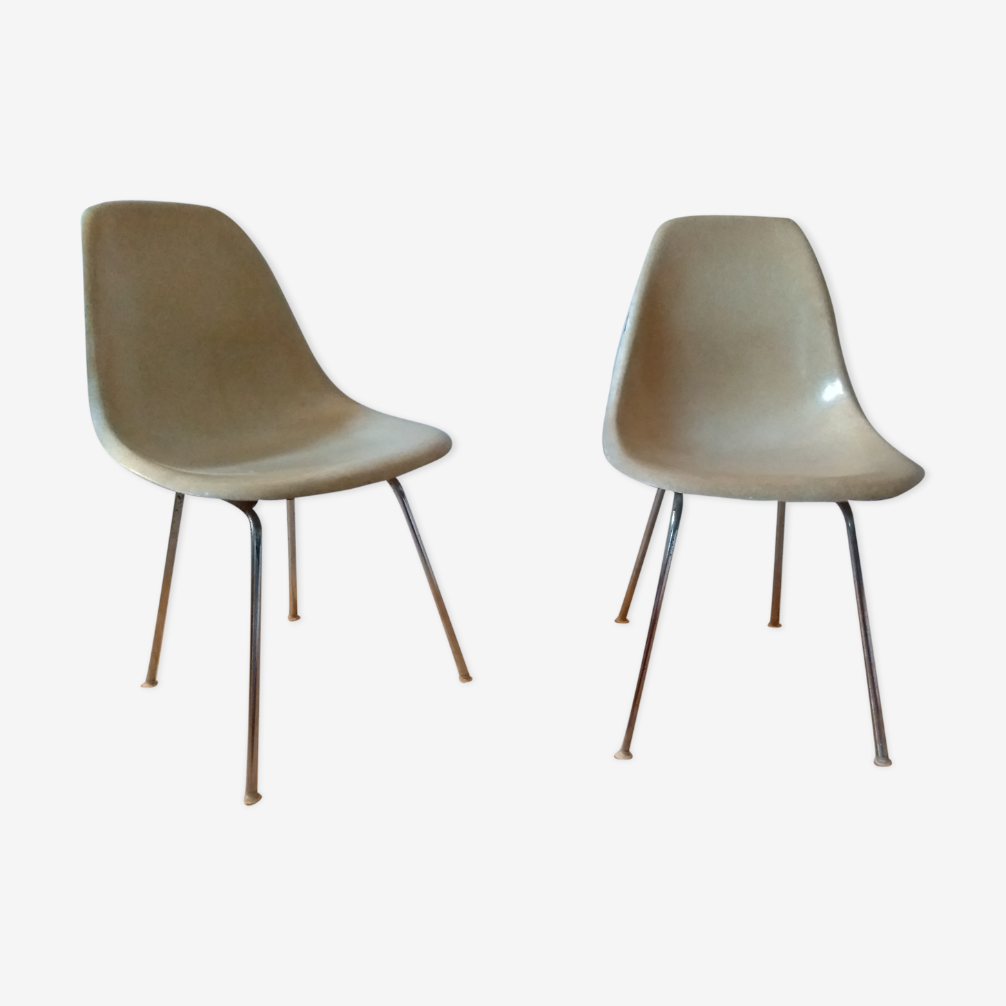 Pair of chairs DSX by Charles & Ray Eames for Herman Miller 50/60