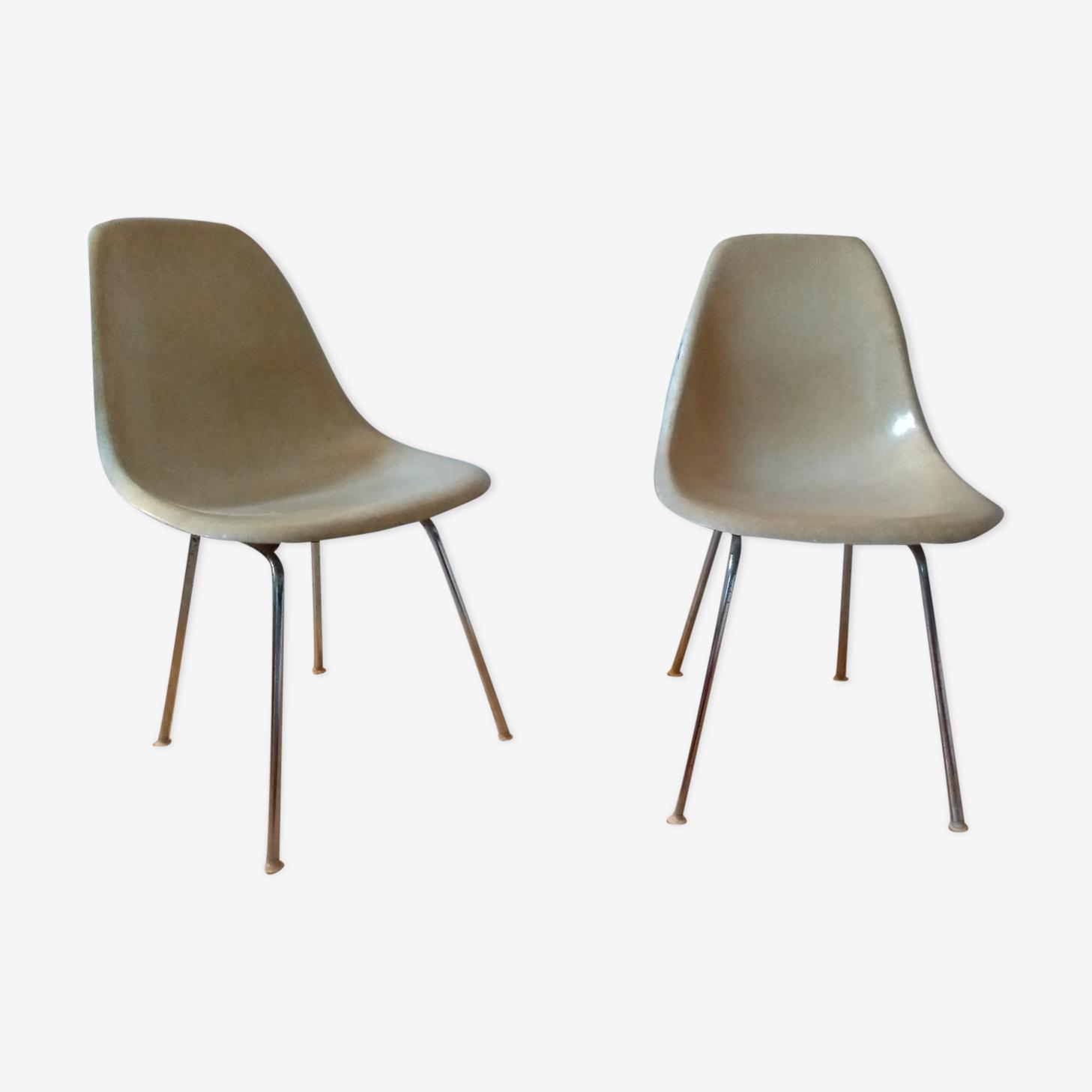 Paire de chaises DSX par Charles et Ray Eames pour Herman Miller 50/60