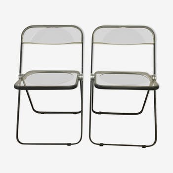 Pair of Plia chairs by Giancarlo Piretti for Castelli 1970