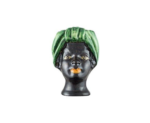 Vase tête mini verte femme Giacomo Alessi