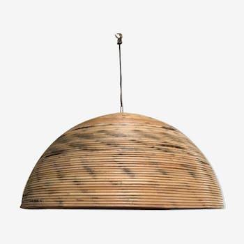 suspension plafonnier en rotin et osier vintage d 39 occasion. Black Bedroom Furniture Sets. Home Design Ideas