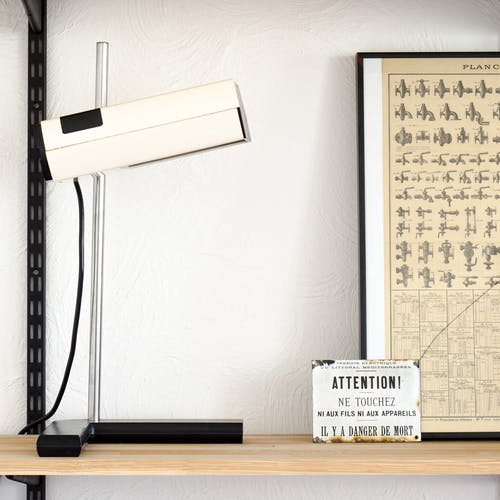 Lamp white by Jean René Talopp Samp