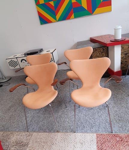 Lot de 4 chaises peace 3207 d'Arne Jacobsen pour Fritz Hansen 1968