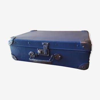 Valise bleue vintage