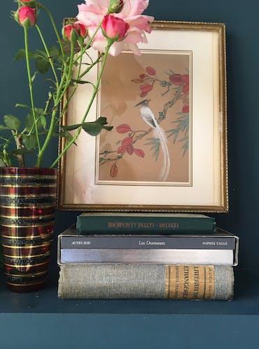 Vase en verre, décor à relief, années 70