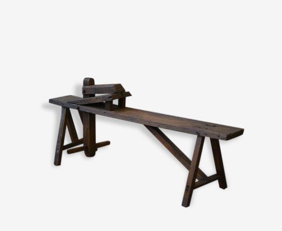 banc d 39 ne en ch ne bois mat riau marron classique 81209. Black Bedroom Furniture Sets. Home Design Ideas
